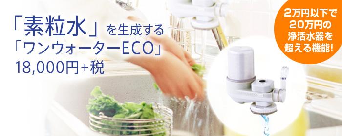 【送料無料】素粒水を生成する高機能浄活水器「ワンウォーターECO」