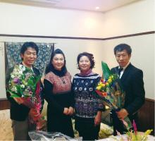 第1回金沢講演で花束