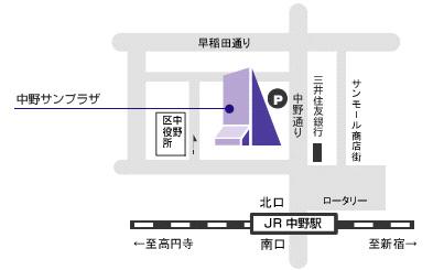 中野サンプラザ地図